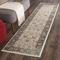 "Safavieh Vintage Oriental Ivory/ Black Distressed Runner - 2'2"" x 12'"