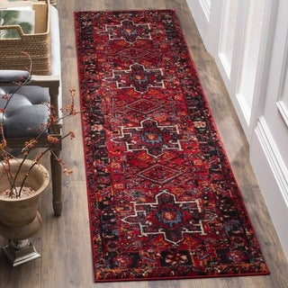"Safavieh Vintage Hamadan Traditional Red/ Multi Runner - 2'-3"" x 10'"