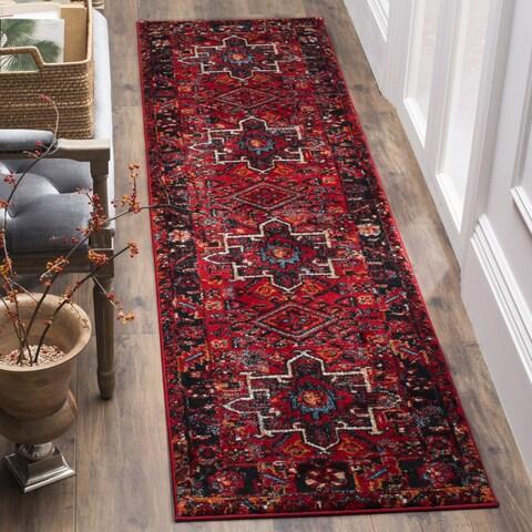 Safavieh Vintage Hamadan Traditional Red/ Multi Runner Rug - 2' 2 x 6'