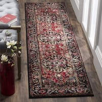 Safavieh Vintage Hamadan Traditional Red/ Multicolored Distressed Runner Rug