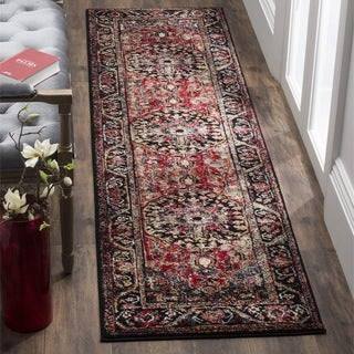 Safavieh Vintage Hamadan Traditional Red/ Multicolored Distressed Runner (2' x 8')