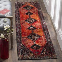 Safavieh Vintage Hamadan Traditional Orange/ Multi Distressed Runner Rug