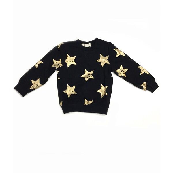 Haley Boutique Rock Stars Black Cotton, Spandex Sweater Top - Free ...