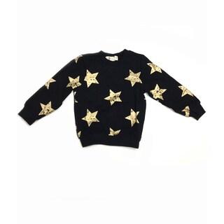 Haley Boutique Rock Stars Black Cotton, Spandex Sweater Top