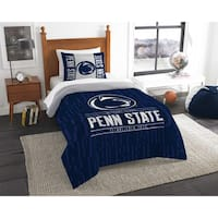 The Northwest Company COL 862 Penn State Modern Take Blue Polyester Twin 2-piece Comforter Set