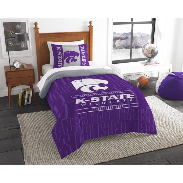 The Northwest Company COL 862 Kansas State Modern Take Twin 2-piece Comforter Set