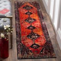 Safavieh Vintage Hamadan Traditional Orange/ Multi Distressed Runner (2' 2 x 6')