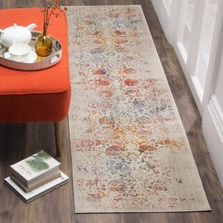 Safavieh Vintage Persian Light Grey / Multi Distressed Polyester Runner (2' 2 x 10')