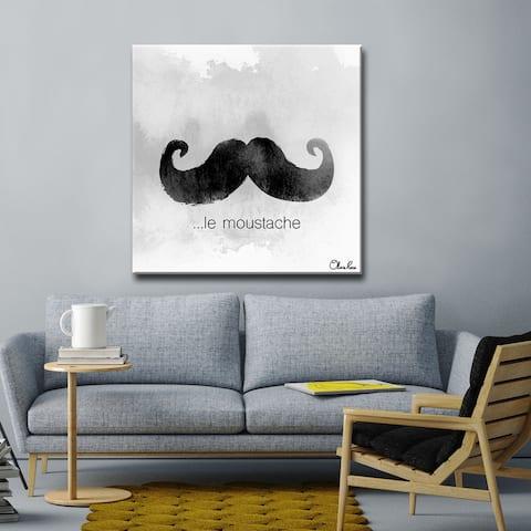 Olivia Rose 'le Moustache' Textual Canvas Art