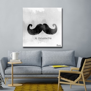Ready2HangArt le Moustache by Olivia Rose Canvas Art
