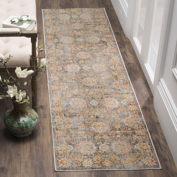 Safavieh Vintage Persian Light Brown/ Multi Distressed Silky Runner Rug - 2' x 12'