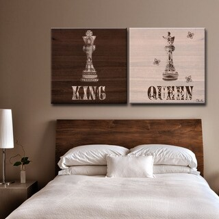 Carbon Loft 'Her King His Queen' by Olivia Rose 2-piece Canvas Art Set
