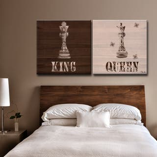 Gracewood Hollow 'Her King His Queen' by Olivia Rose 2-piece Canvas Art Set