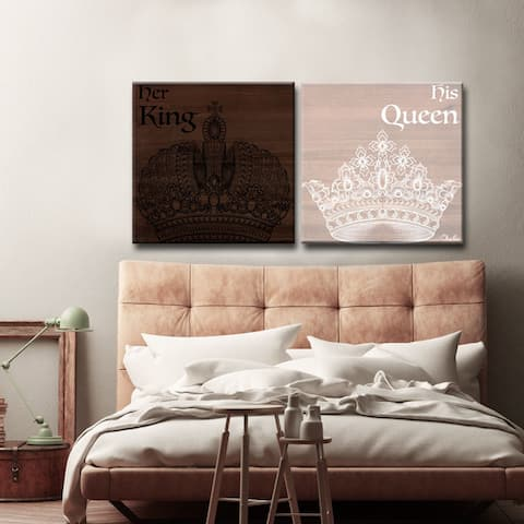 Olivia Rose 'Her King His Queen' 2-PC Inspirational Canvas Art Set