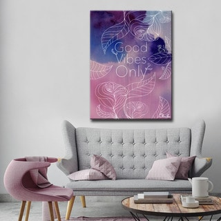Ready2HangArt Good Vibes by Olivia Rose Canvas Art