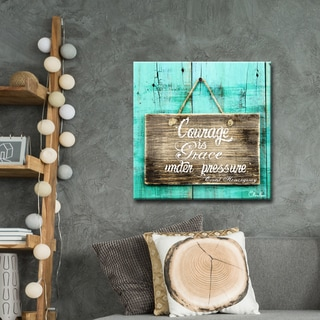 Ready2HangArt Courage is Grace by Olivia Rose Canvas Art