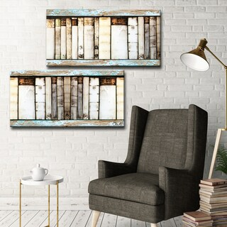 Ready2HangArt Vintage Bookshelf by Olivia Rose 2-PC Canvas Art Set - Multi-color