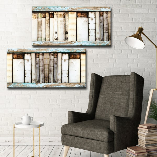 Ready2HangArt Vintage Bookshelf by Olivia Rose 2-PC Canvas Art Set