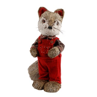 Fabric 13-inches High Christmas Decorative Fox