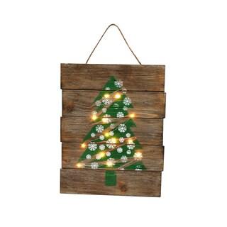 'Christmas Tree' LED-illuminated Wooden Indoor Sign