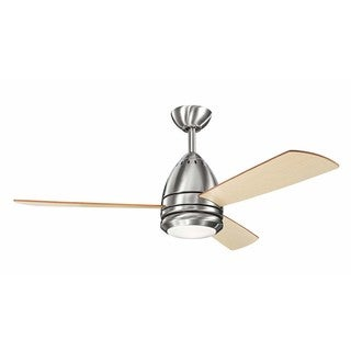 Kichler Lighting Eva Collection 46-inch Brushed Stainless Steel Ceiling Fan