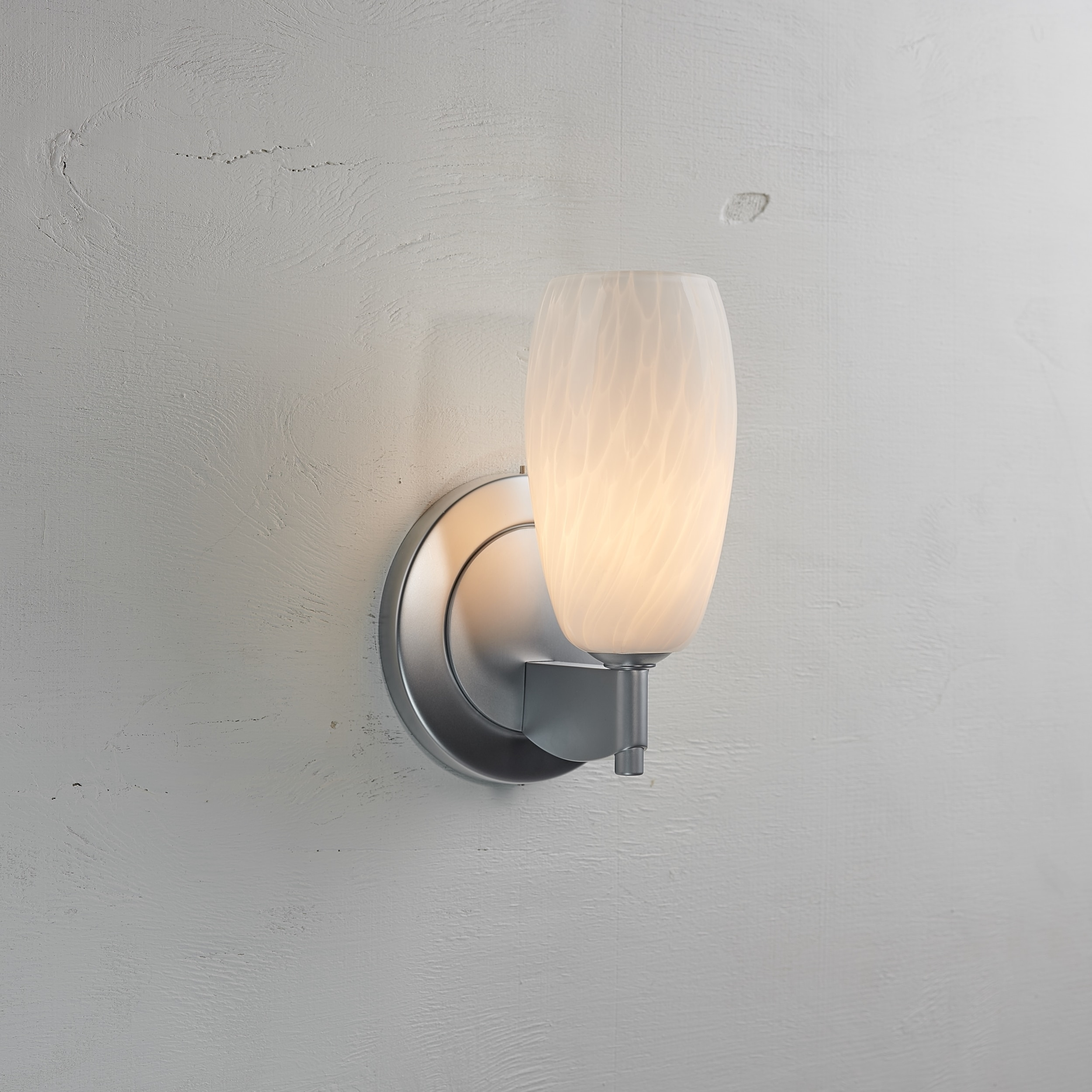 Bruck Lighting Ciro Mini 1 Light Matte Chrome Wall Sconce With White Glass Shade Overstock 13310277