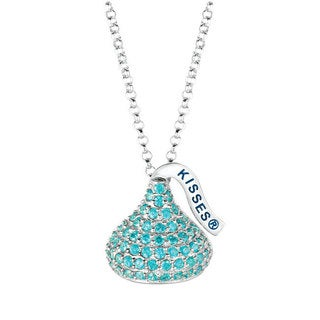 Hershey's Kisses Women's Sterling Silver Cubic Zirconia Medium Flat Back December Pendant
