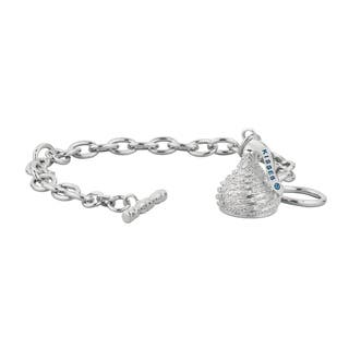 Hershey S Kisses Sterling Silver Diamond Accent Medium Toggle Bracelet
