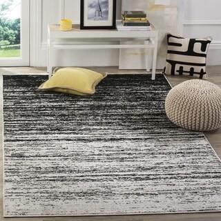 Safavieh Adirondack Modern Abstract Silver/ Black Rug (4' Square)