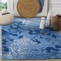 Safavieh Adirondack Vintage Damask Light Blue/ Dark Blue Rug - 8' Square