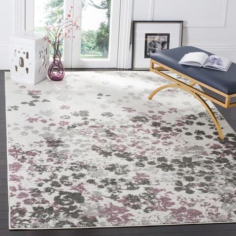 Safavieh Adirondack Marisol Floral Light Grey / Purple Rug - 4' x 4' Square