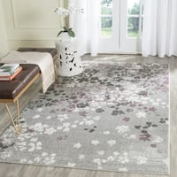 Safavieh Adirondack Vintage Floral Light Grey / Purple Rug - 4' Square