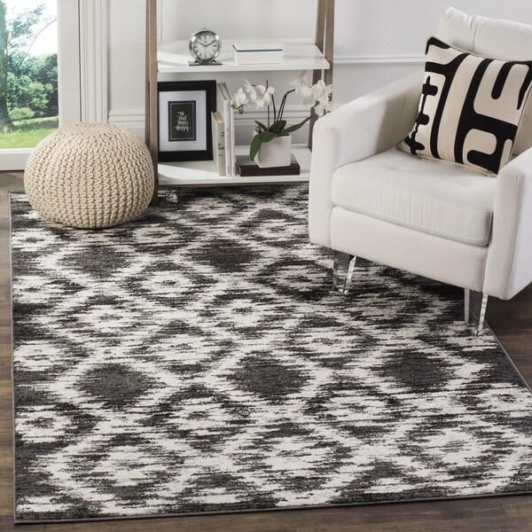 Safavieh Adirondack Modern Charcoal/ Ivory Rug - 4' Square