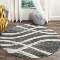 Safavieh Adirondack Modern Charcoal/ Ivory Rug - 4' x 4' Round