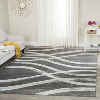 Safavieh Adirondack Modern Charcoal/ Ivory Rug - 8' Square