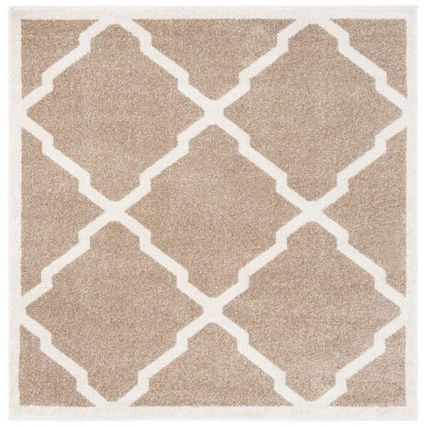 Safavieh Amherst Indoor/ Outdoor Wheat/ Beige Rug - 5' x 5' square