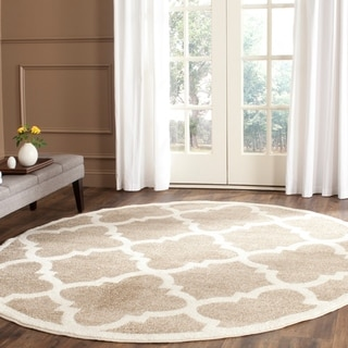 Safavieh Amherst Indoor/ Outdoor Wheat/ Beige Rug (5' Round)