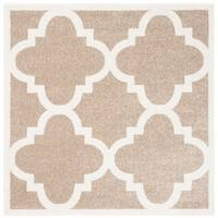 Safavieh Amherst Indoor/ Outdoor Wheat/ Beige Rug - 5' x 5' square