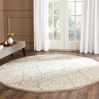 Safavieh Amherst Indoor/ Outdoor Wheat/ Beige Rug (5' Round)