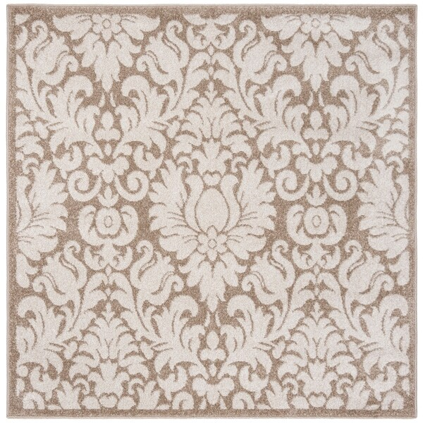 Safavieh Amherst Indoor/ Outdoor Wheat/ Beige Rug - 9' x 9' square