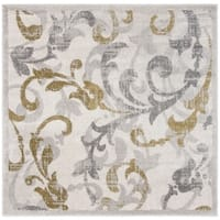 Safavieh Amherst Indoor/ Outdoor Ivory/ Light Grey Rug - 9' x 9' square