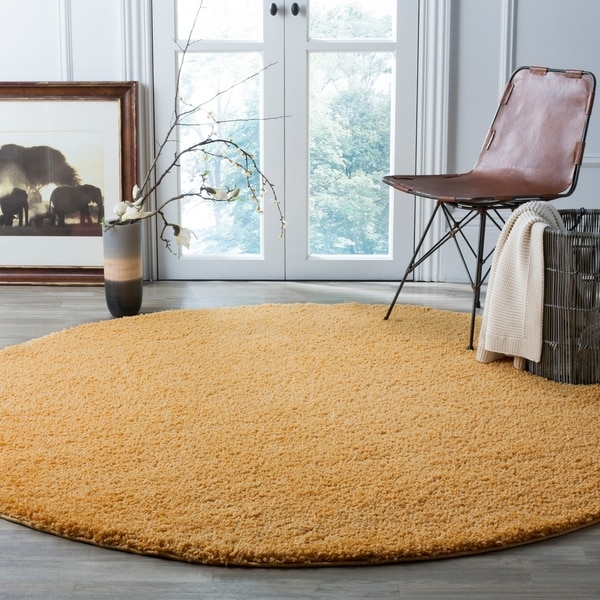 Shop Safavieh Arizona Shag Southwestern Gold Shag Rug 7