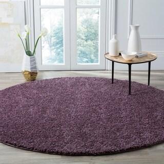 Safavieh Arizona Shag Southwestern Purple Shag Rug (7' Round)