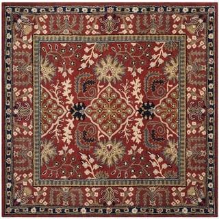 Safavieh Antiquity Traditional Handmade Red/ Multi Wool Rug (6' Square)