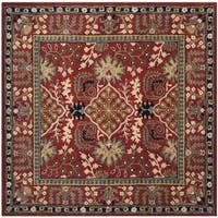 Safavieh Antiquity Traditional Handmade Red/ Multi Wool Rug - 6' Square