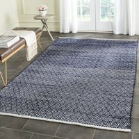 Safavieh Boston Contemporary Navy Cotton Rug - 8' Square