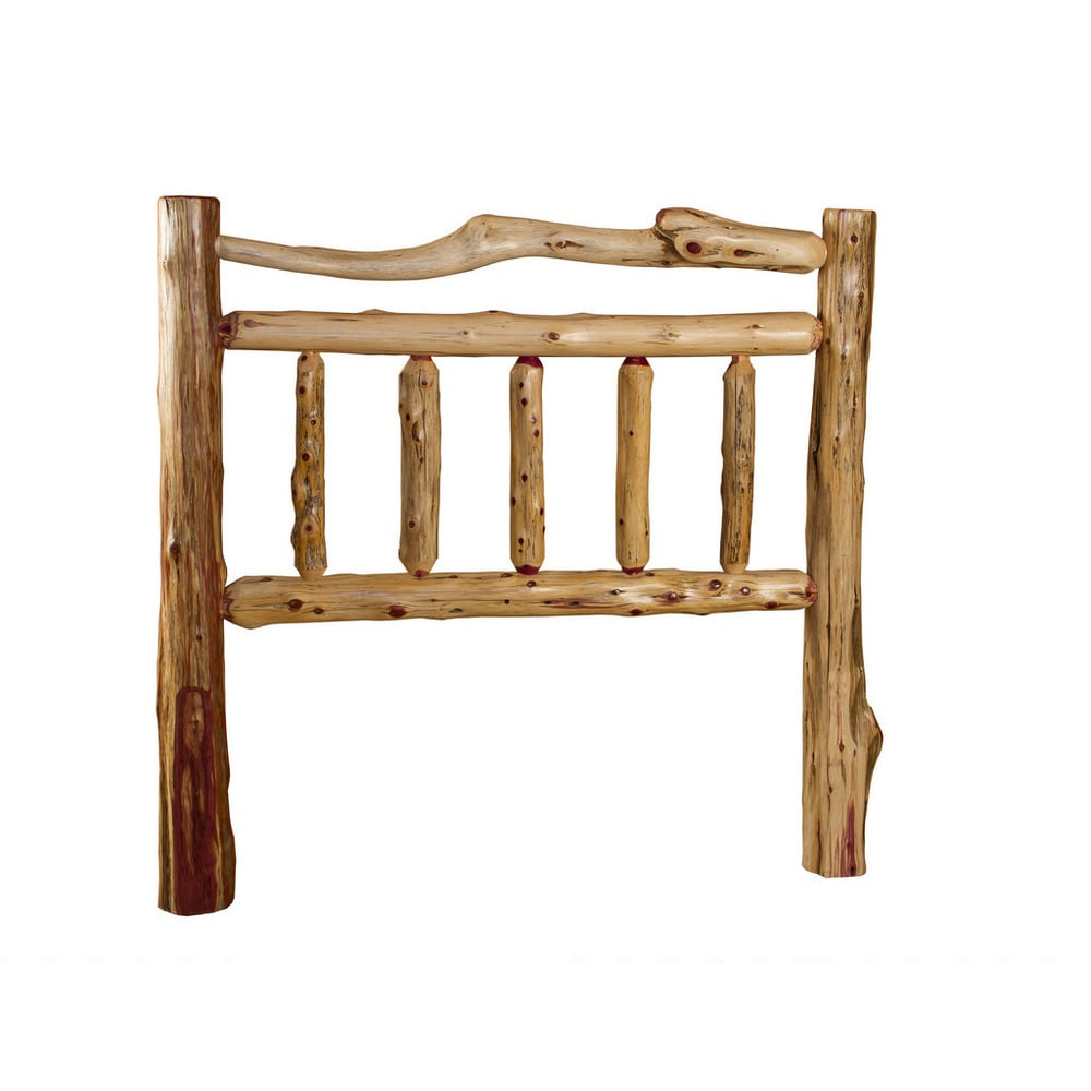 Rustic Red Cedar Log Double Top Rail Headboard Only