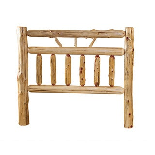 RUSTIC RED CEDAR LOG -WAGON WHEEL STYLE -*HEADBOARD ONLY*