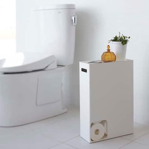Plate Toilet Paper Stocker White
