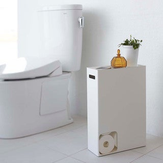 Plate Toilet Paper Stocker White